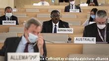 Genf UN Menschenrechtsrat Sitzung