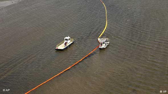 Öl-Barriere (Foto: AP)