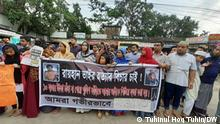 Bangladesch   Proteste   Straßenszene