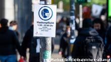 Deutschland Hamburg | Coronavirus | Hinweis Maskenpflicht