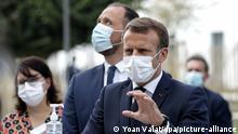 Frankreich Bracieux | Besuch Altersheim | Emmanuel Macron