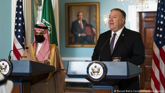 USA I Saudi Arabien I Faisal bin Farhan Al Saud und Mike Pompeo