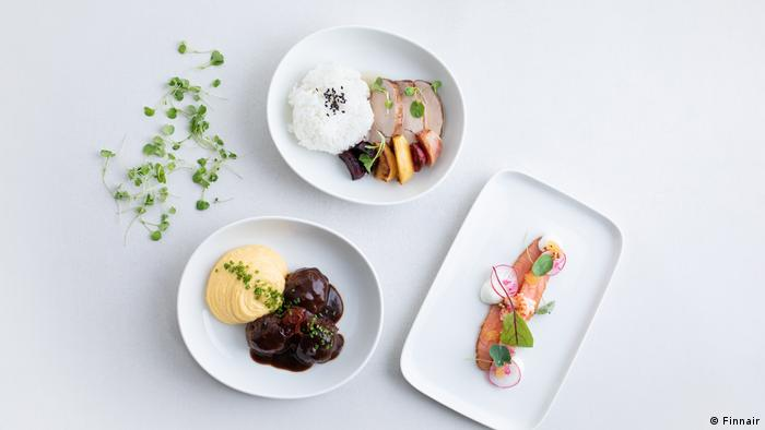 Finnair meals that the airline plans to sell in supermarkets