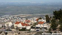 Israelische Siedlung im Westbank