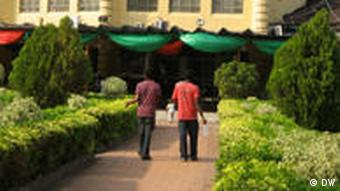 The well-kept Ikoyi Club on garden grounds