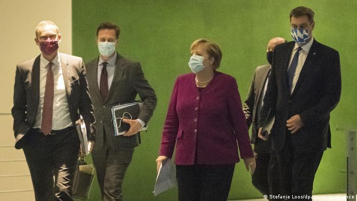 Angela Merkel with state premiers