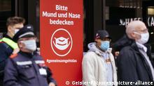 Symbolfoto Maskenpflicht auf öffentlichen Plätzen Düsseldorf