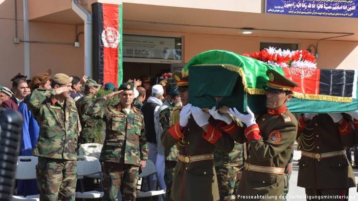 Afghanistan Beerdigung von ANA-Soldaten (Presseabteilung des Verteidigungsministeriums)