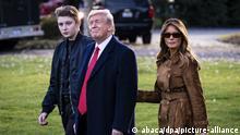USA Washington Weißes Haus  Barron, Donald & Melania Trump