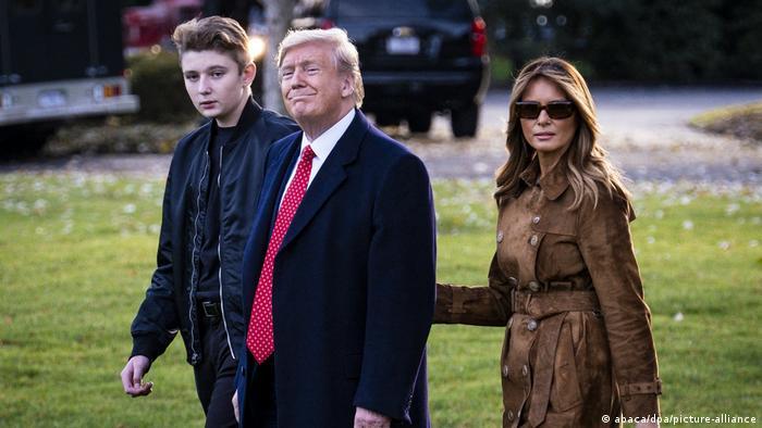 USA Washington Weißes Haus |Barron, Donald & Melania Trump