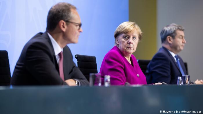 Corona-Gipfel I Merkel und Ministerpräsidenten