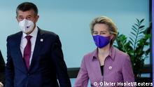 Belgien EU-Gipfel Von der Leyen und Andrej Babis