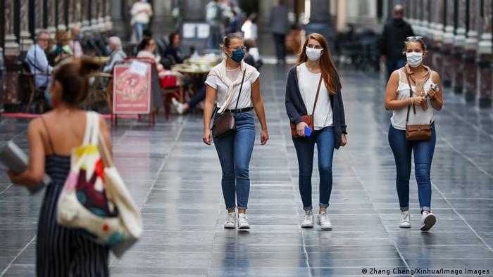 Shoppen in Brüssel - nur mit Maske!