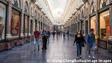 Belgien Corona-Pandemie Symbolbild | Brüssel (Zhang Cheng/Xinhua/Imago Images)