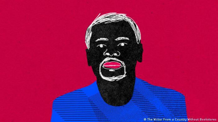 Juan Tomás Àvila Laurel als gezeichnete Grafik / Filmstill aus dem Dokumentarfilm Der Schriftsteller aus einem Land ohne Buchläden
