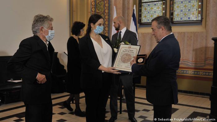 Polen Gleiwitz | Ehrung Familie Buchała | Roman Polanski