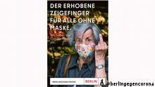 #berlingegencorona Kampagne Senat Berlin Maskenverweigerer
