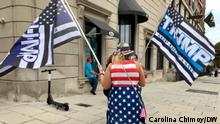 USA Wahlkampf | Trump-Anhänger in Washington (Carolina Chimoy/DW)