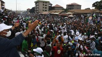 Cellou Dalein Diallo ici en campagne électorale à Conakry, le 15 octobre 2020
