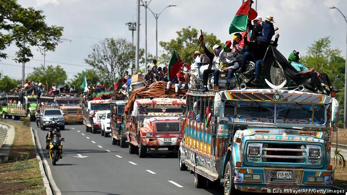 Kolumbien Cali | MINGA | Politischer Marsch