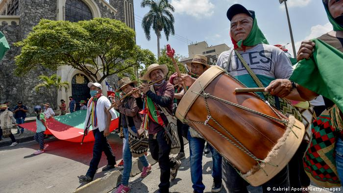 Kolumbien Cali | MINGA | Politischer Marsch (Gabriel Aponte/Getty Images)