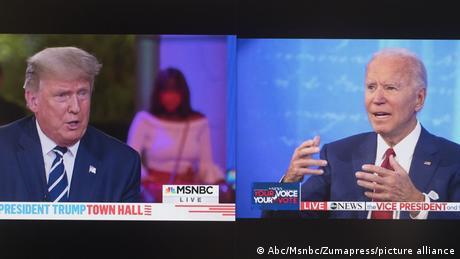 USA Townhalls Fragestunde Trump Biden (Abc/Msnbc/Zumapress/picture alliance)
