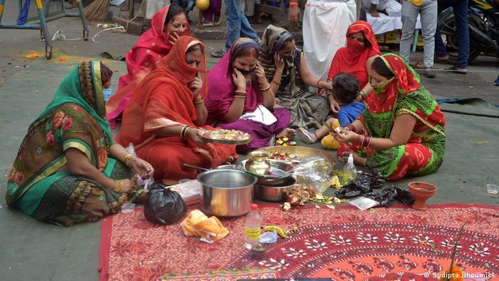 Indien Coronavirus Durga Puja