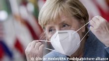 Gipfel der EU-Staats- und Regierungschefs | Angela Merkel (Olivier Hoslet/EPA Pool/dpa/picture-alliance)