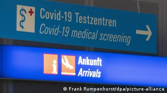 Центр тестирования на коронавирус в аэропорту Фрнакфурта-на-Майне