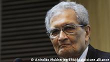 Indien Nobelpreisträger Amartya Sen (Anindito Mukherjee/EPA/dpa/picture alliance)