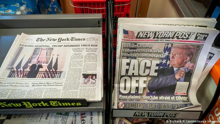 USA Symbolbild The New York Times und New York Post