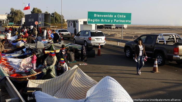 Venezuelan migrants in Chile