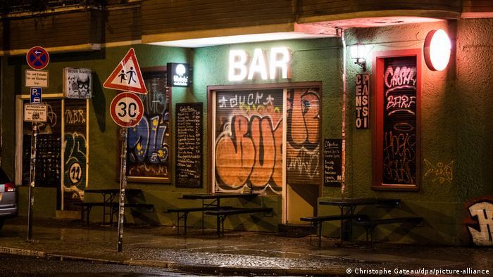 A shuttered bar in Berlin