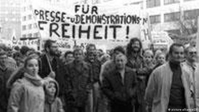 Protesters Nov. 4, 1989