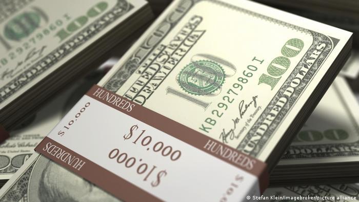 Ilustrasi mata uang dolar AS