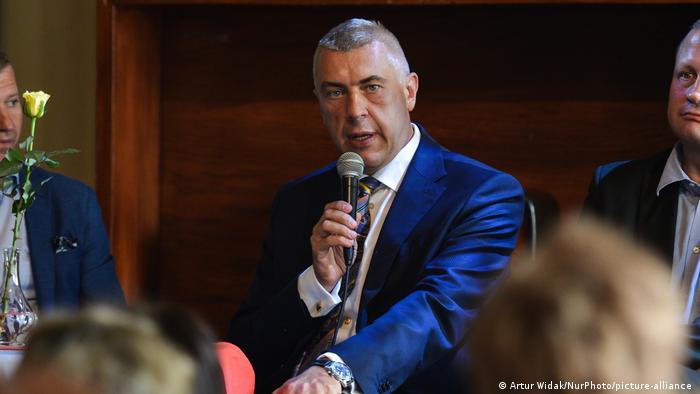 Polen Krakau | Ex-Vizeministerpräsident | Festnahme Roman Giertych (Artur Widak/NurPhoto/picture-alliance )