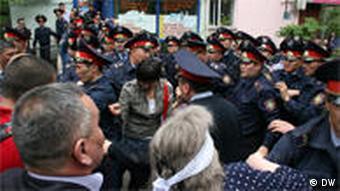 Акция протеста в Алма-Ате (фото из архива)