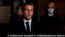 Frankreich | Paris | Emmanuel Macron spricht nach einer brutalen Messerattacke