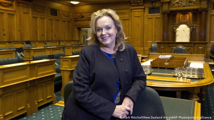 Neuseeland Wahl | Strafvollzugsministerin Judith Collins (Mark Mitchell/New Zealand Herald/AP Photo/picture-alliance )
