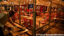 Frankreich Lille | vor Ausgangssperre | leeres Restaurant