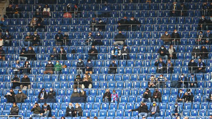 Socially-distanced fans at Hoffenheim vs. Borussia Dortmund