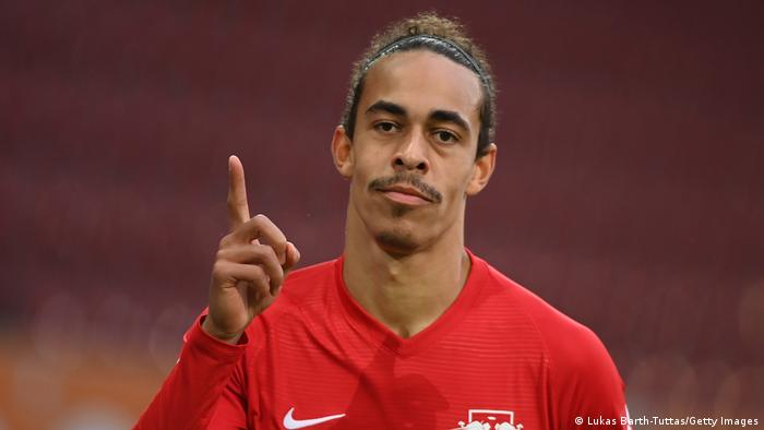 Deutschland Bundesliga FC Augsburg v RB Leipzig | Yussuf Poulsen (Lukas Barth-Tuttas/Getty Images)