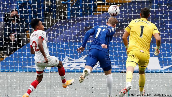 UK Timo Werner Jubel | Chelsea gegen Souththampton