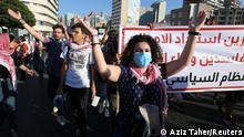 Libanon Jahrestag der anti-Regierungsproteste in Beirut (Aziz Taher/Reuters)