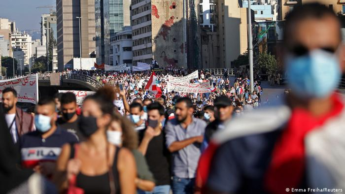 Libanon Jahrestag der anti-Regierungsproteste in Beirut