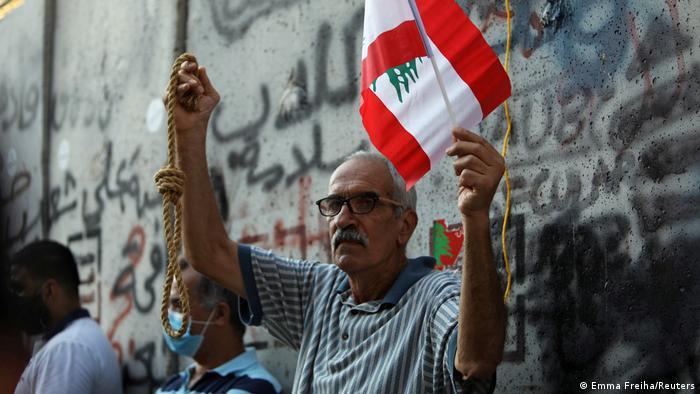 Der Hass der Libanesen muss groß sein: ein Foto von Anti-Regierungsprotesten vor wenigen Tagen in Beirut