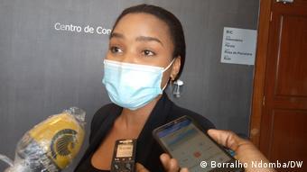 Angola Luanda | Konferenz zu Covid-19 & Thema Elisa Pedro Gaspar |Katiana Antas, Ärztin (Borralho Ndomba/DW)