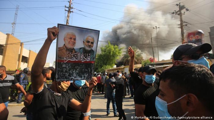 حمله نیروهای وابسته به حشد شعبی به دفتر حزب دموکرات کردستان در بغداد، شنبه ۱۷ اکتبر ۲۰۲۰