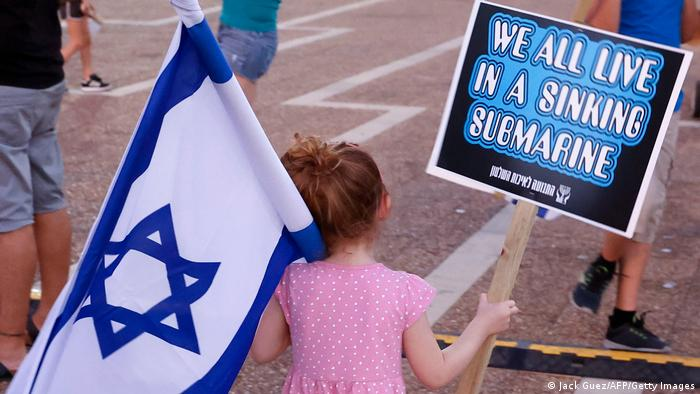 Israel I Corona-Proteste in Tel Aviv (Jack Guez/AFP/Getty Images)