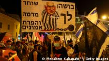 Israel I Corona-Proteste in Tel Aviv (Menahem Kahana/AFP/ Getty Images)